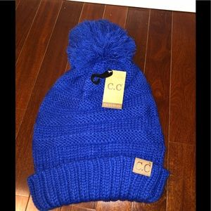 C.C. Exclusives Knit Beanie with Pom